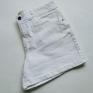 St John's Bay stretch white jean shorts
